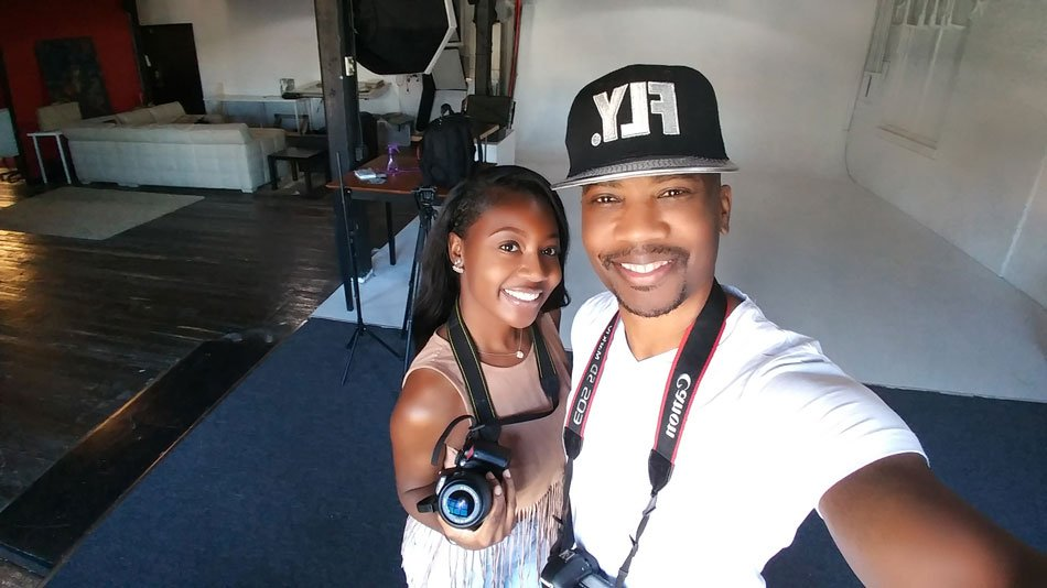 Corey Reese with Photographer Kasshe